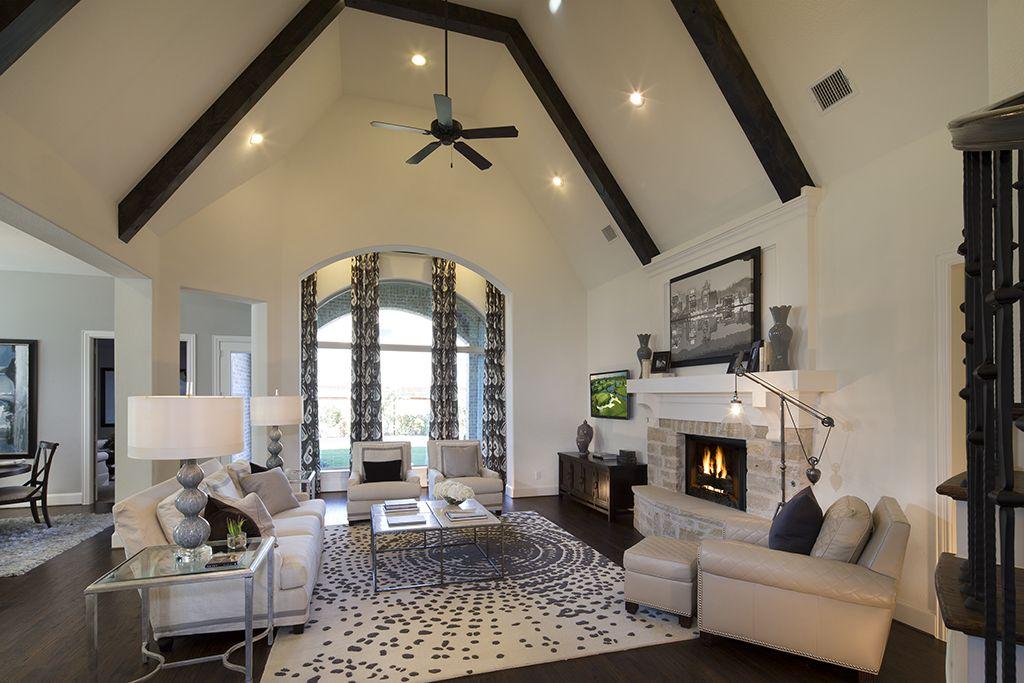 Highland Homes   Lawler Park 75s   Living Room   Frisco, TX   Plan 296