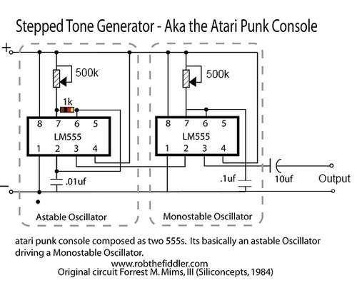 Atari Punk Console With Two 555s Ing Pinterest Electronics Rhpinterest: Atari Wiring Diagram At Gmaili.net