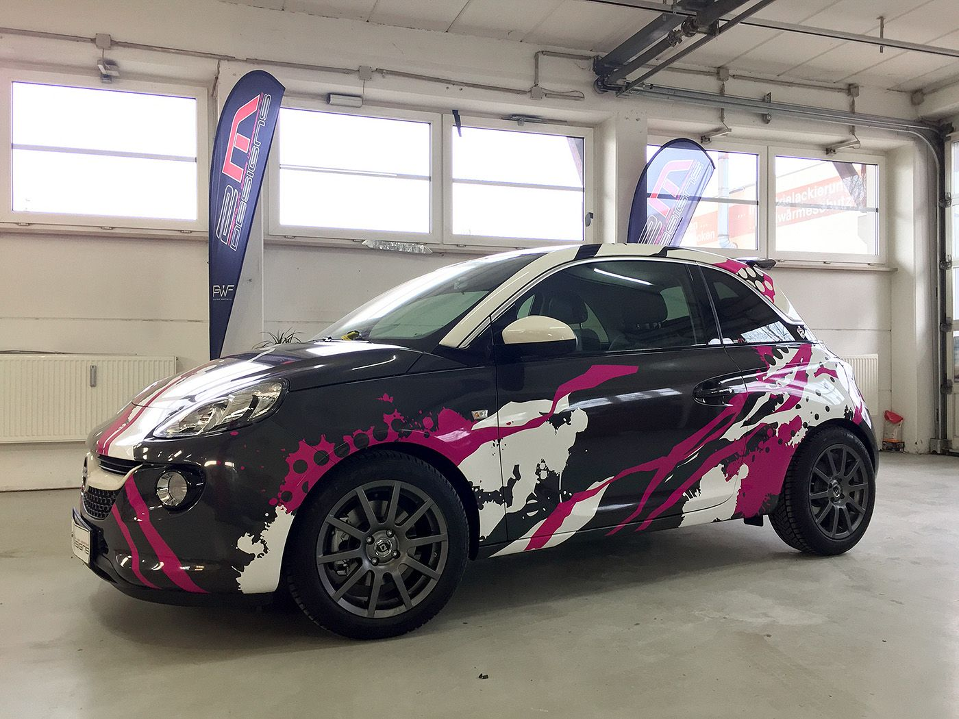 Audi r8 partial car wrapping sticker bomb stickerbomb by - Cool Purposeful Splatter Design On This Car Wrap We Love It