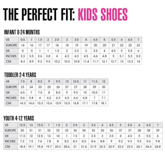 Shoe Conversion Chart Kids Shoe Size Chart Kids Toddler Shoe Size Chart Cheap Kids Clothes Online