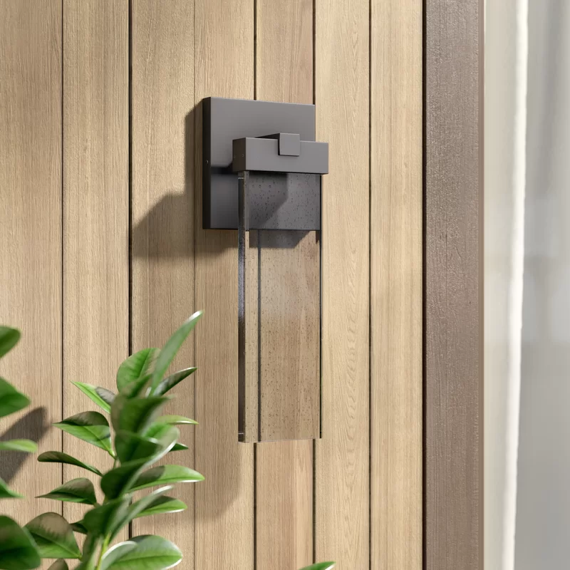 Camborne 1 Bulb Integrated Led Outdoor Armed Sconce Outdoor Sconces Sconces Outdoor Flush Mounts