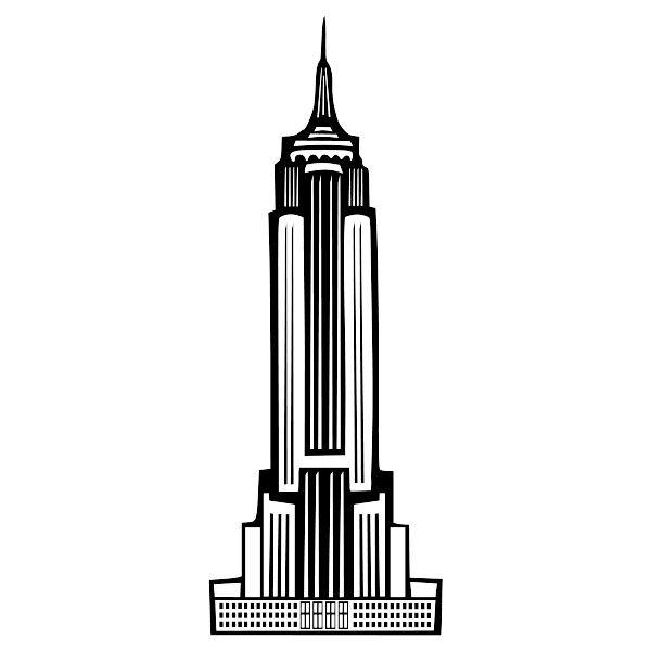 empire state building public domain clip art image wpclipart rh pinterest co uk building clip art free building clip art black and white