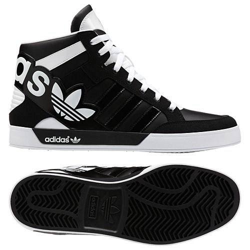 separation shoes a7446 068d4 ADIDAS ORIGINALS HARD COURT HI BIG LOGO SHOES