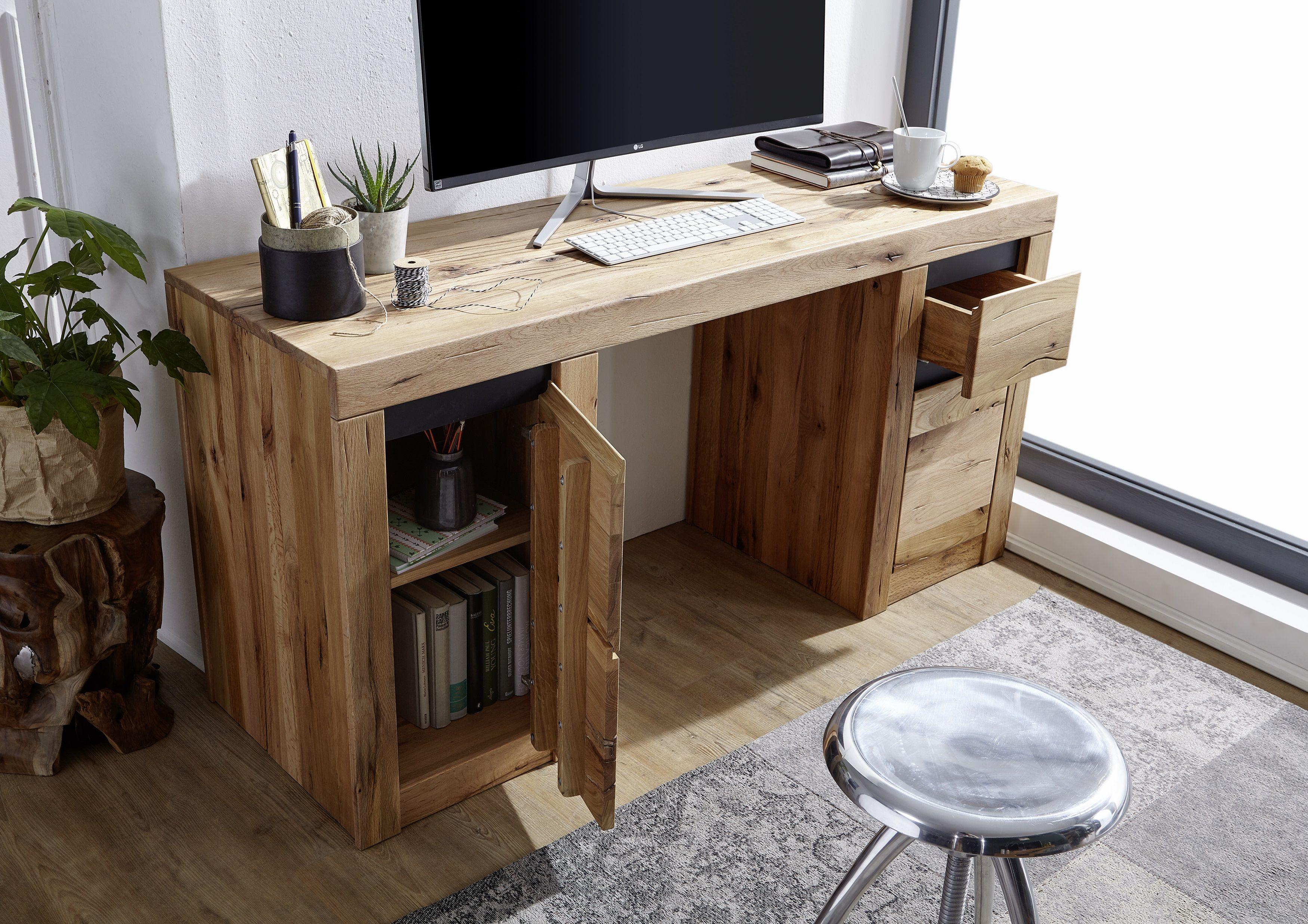 Schreibtisch 150x50x75 Versandfrei Kaufen Massivmoebel24 In 2020 Schreibtisch Eiche Haus Haus Deko