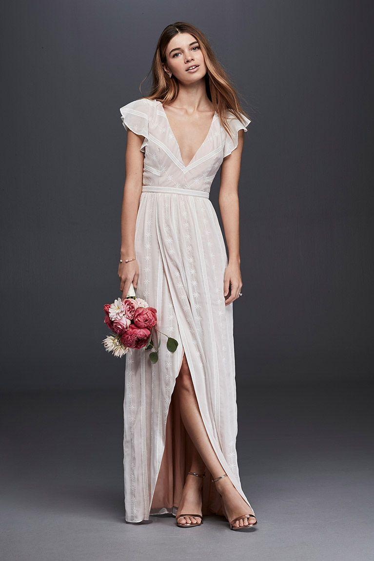 Casual wedding dresses davidus bridal vestidos blusas u faldas