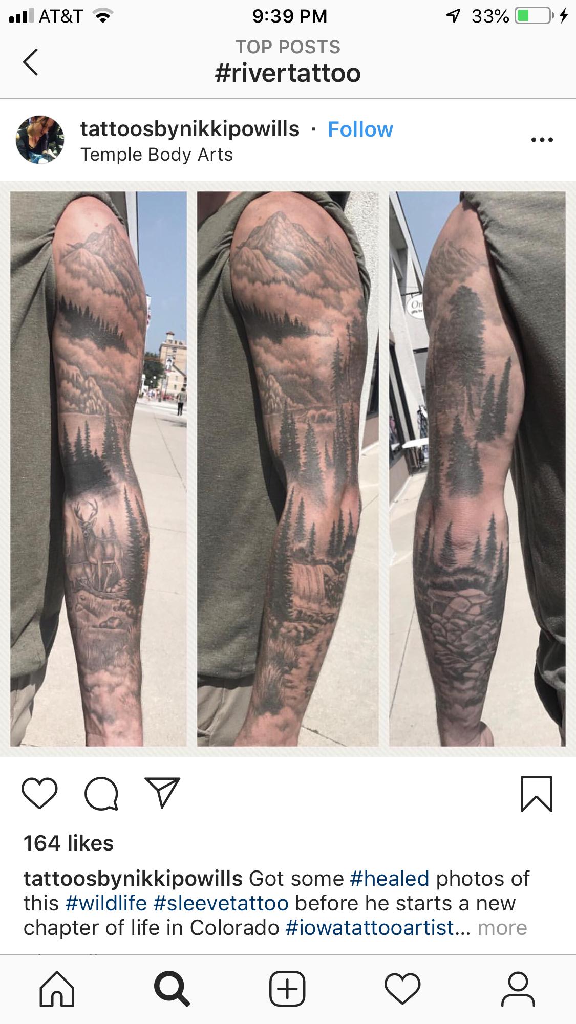 Unterarm tattoo wald männer Kleine Tattoos