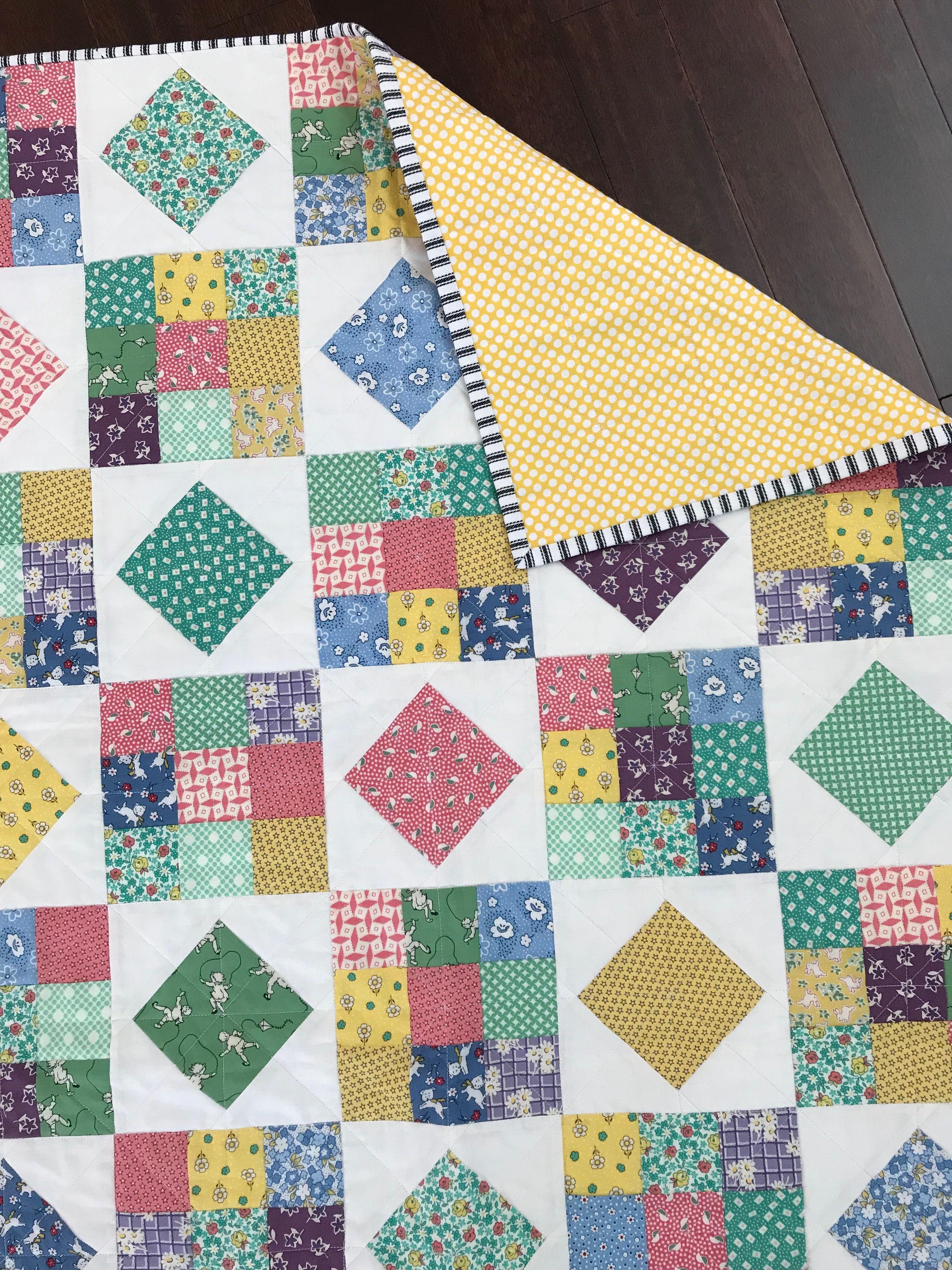 Kinder Quilt Patronen.Lap Quilt 1930 S Reproduction Fabrics Kinder Quilts Pinterest