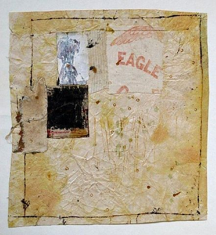 Hannelore Baron, untitled (C-84073) 1984 Mixed Media, collage of monotype, cloth & paper with ink, via: http://www.artnet.com
