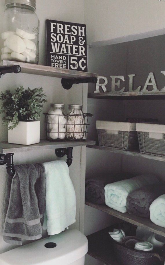 Farmhouse wall decor bathroom sign painted etsy also so how about house ideas diy interior design living rooms rh pinterest
