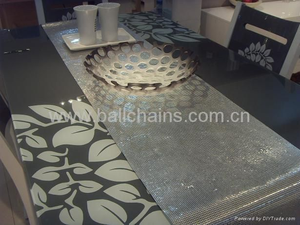 Aluminum Metal Mesh Table Runner,metal Table Sheet,metal Mesh,metal Fabric  Table