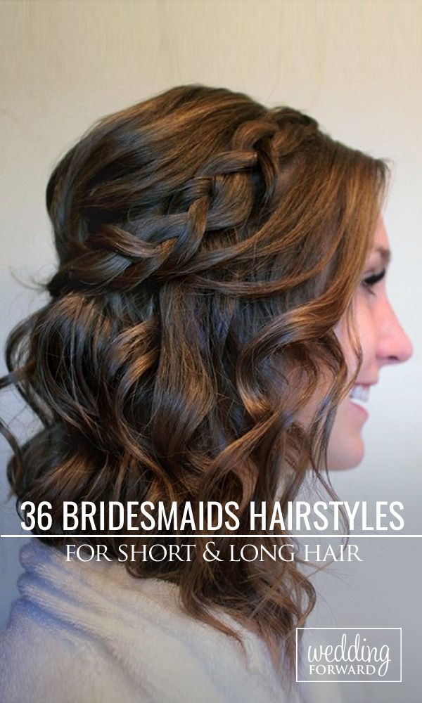 48 Perfect Bridesmaid Hairstyles Ideas Wedding Forward Bridesmaid Hair Medium Length Medium Length Hair Styles Long Hair Styles