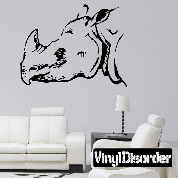 Rhino Wall Decal - Vinyl Decal - Car Decal - DC003