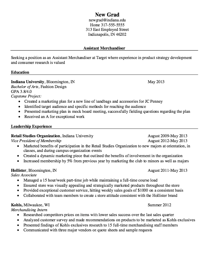 Resume Samples For Merchandiser  HttpResumesdesignComResume