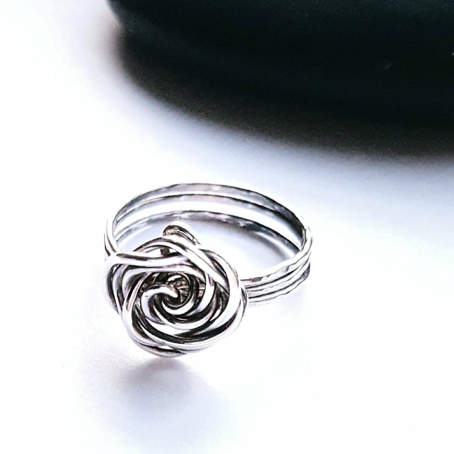 ON SALE Sterling SilverWire Wrapped Rose Rings\\Boho Jewelry\\.925 ...