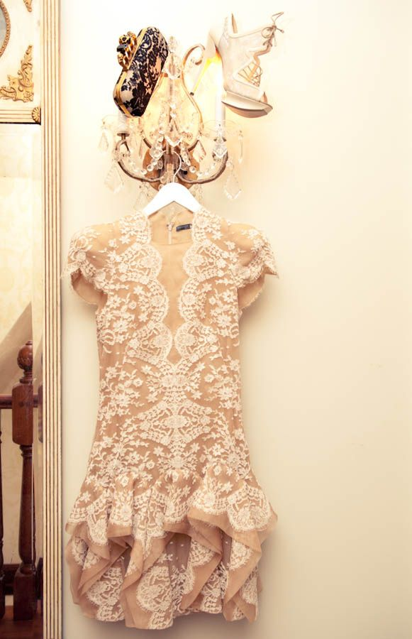 Alexander McQueen Dress & Clutch, Nicholas Kirkwood Shoes
