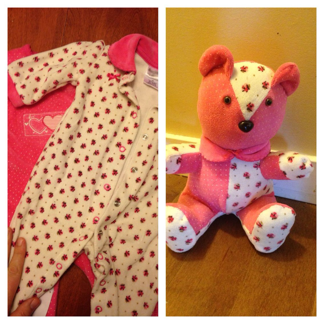 Memory Bear Made From Two Baby Sleepers Baby Gifts