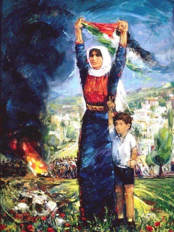 من لوحات الفنان الراحل اسماعيل شموط Palestine Art Art Painting