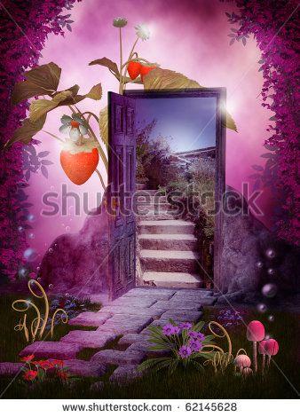 drawings of fantasy garden doors - Google Search