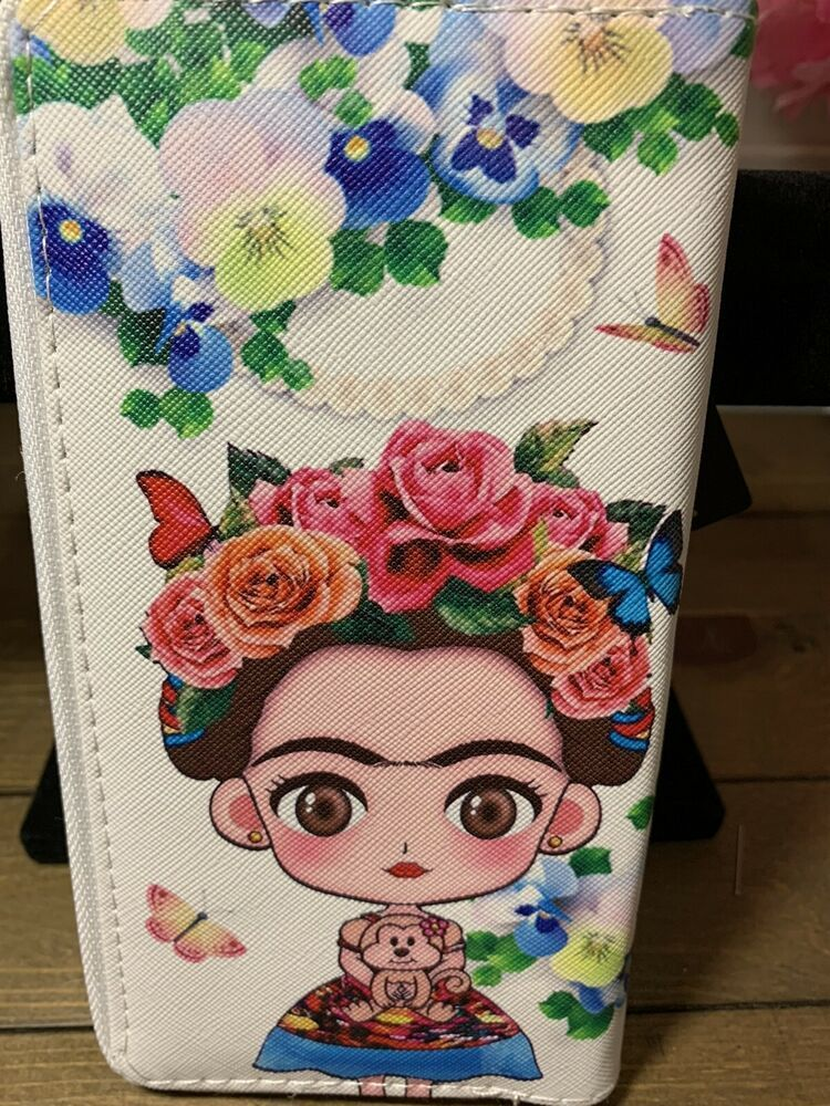 Details about Frida Kahlo Wallet Brand New Purse Clutch