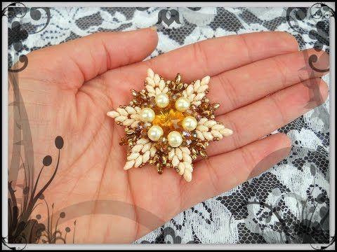 Best Seed Bead Jewelry  2017  Tutorial modulo HOLLY  Incastonatura perle superduo cipollotti Stella per Orecchini Ciondolo
