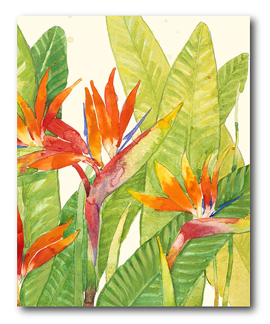 Look at this Watercolor Tropical Flower Wrapped Canvas on #zulily ...