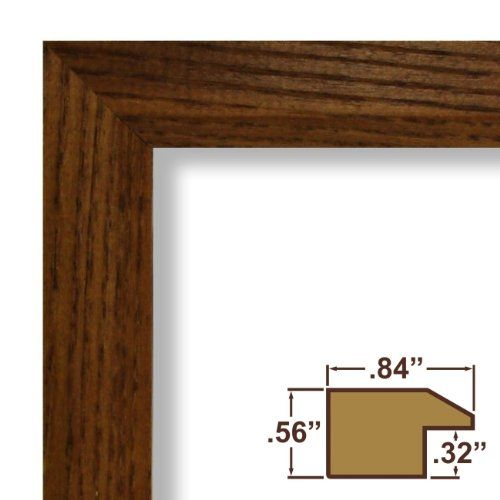 20x28 Poster Frame Real Wood Grain 84 Wide Rich Brown 093 Acrylic