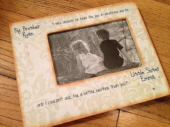 Big Brother Little Sister Personalized Frame | Big Brother Little ...