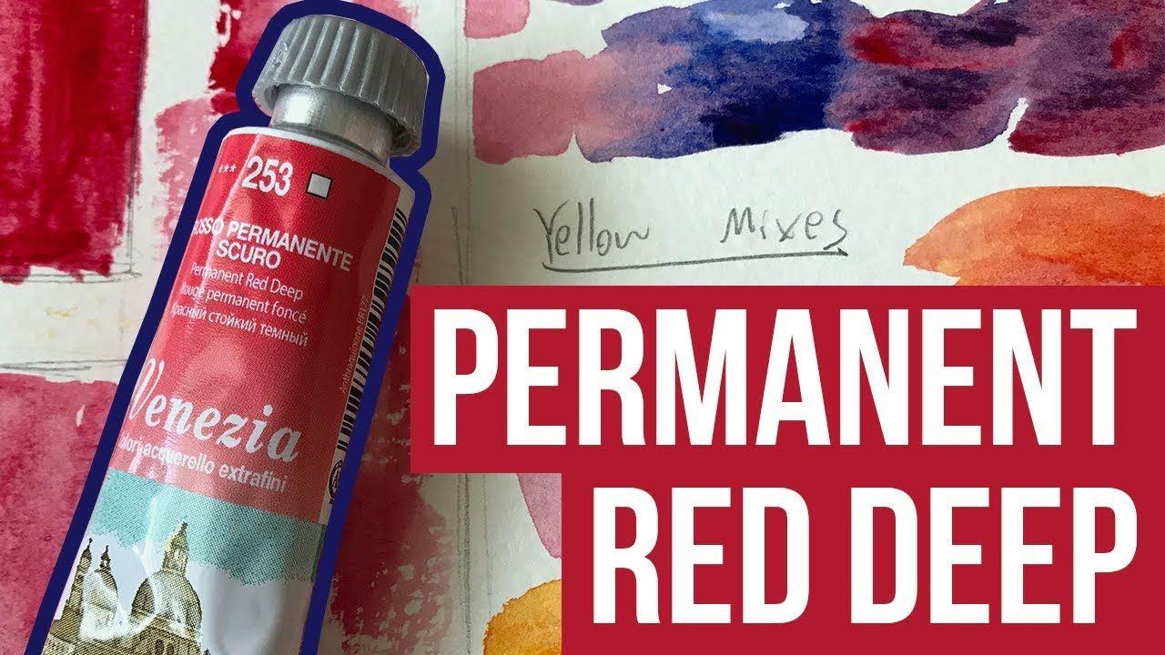 Permanent Red Deep Maimeri Venezia Watercolor The Paint Show