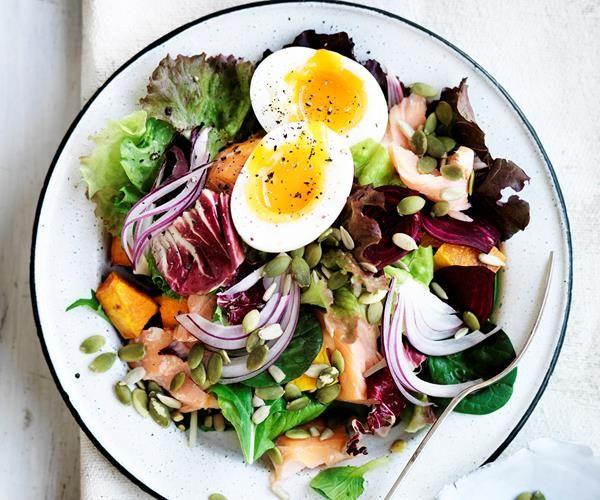 hotsmoked salmon and egg salad — food to love  egg salad