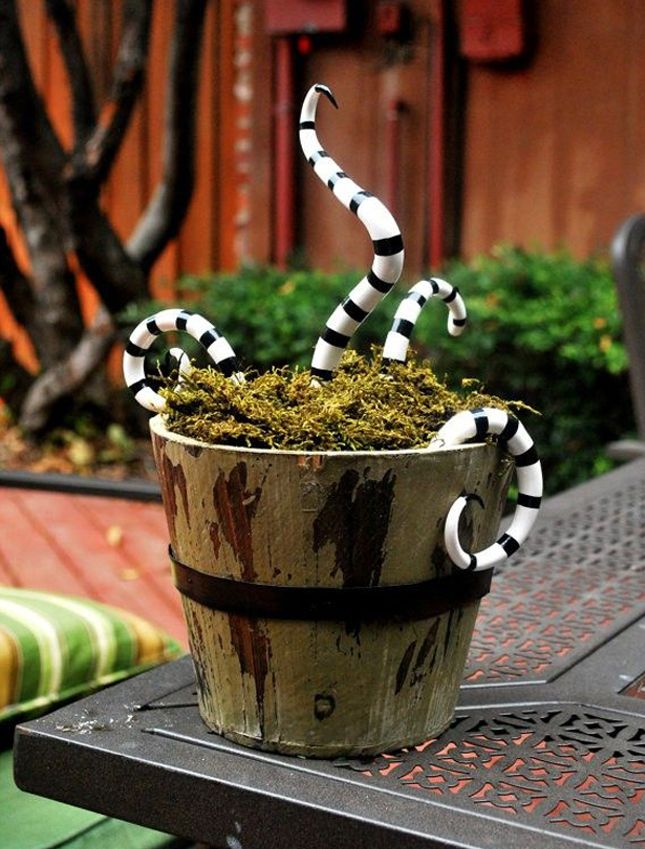 16 DIY Ways to Scare Trick-or-Treaters on October 31st October - tim burton halloween decorations