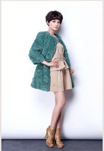 Newly-Design-Real-100-Rabbit-Fur-Long-Coat-Jacket-Overcoat-Outwear-Gilet-Pink