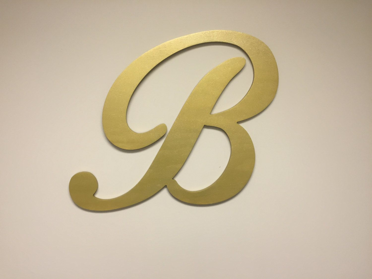 Gold Letter B Large Letter Decor Wood Wall Letters Home Wall