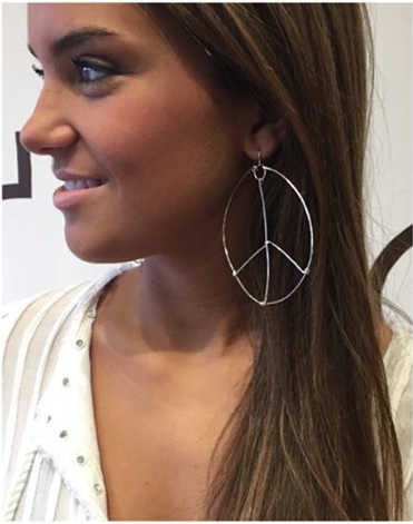 PEACE SIGN EARRINGS STERLING SILVER $92- CALL SPLASH TO ORDER 314-721-6442