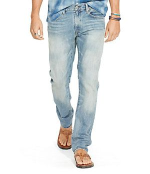 Polo Ralph Lauren Varick Slim-Straight Lightweight Denim Jeans   Dillard's Mobile