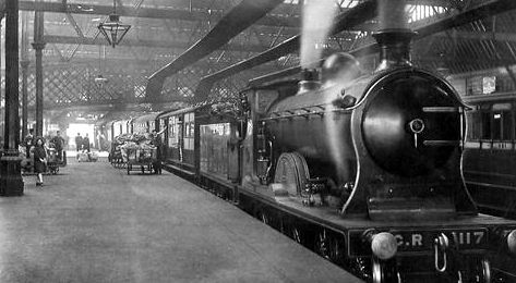 Old Photograph Railway Station in Perth, Scotland   Ireland/Scotland