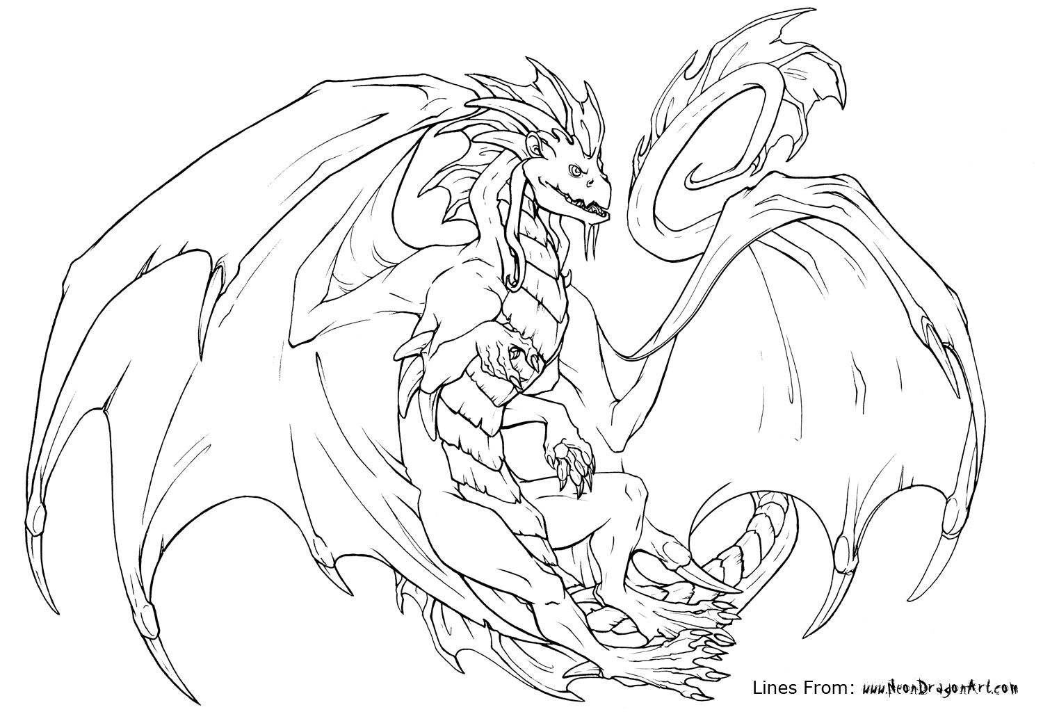 Pin On Colouring Dragons Gremlins Other Monstrous Creatures