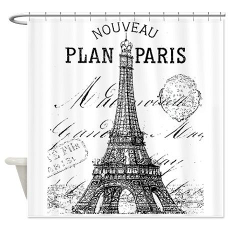 Nouveau Paris Shower Curtain On CafePress.com $57.99