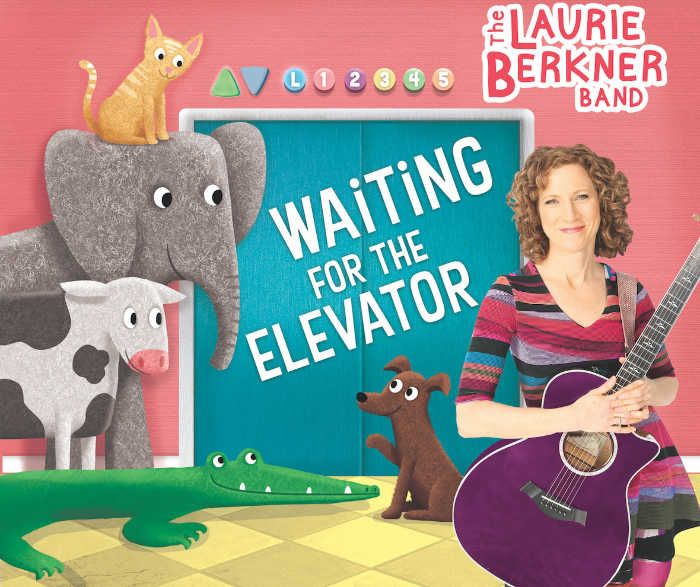 Waiting for the Elevator CD by Laurie Berkner is full of toe-stomping, sing-along tunes about everyday family activities - getting gas, playing hide-n-seek, imagining what it's like to be a mermaid. This album is sure to delight kids and parents alike. #kidsmusic #family #CDreview