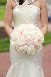 Saratoga Springs Wedding by Joe Elario Photography  big white soft rose peonies …