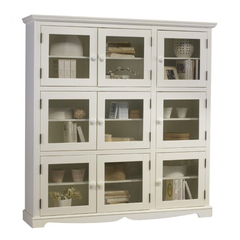 Bibliotheque Blanche 9 Portes Vitrees Beaux Meubles Pas Chers Home Decor Home China Cabinet