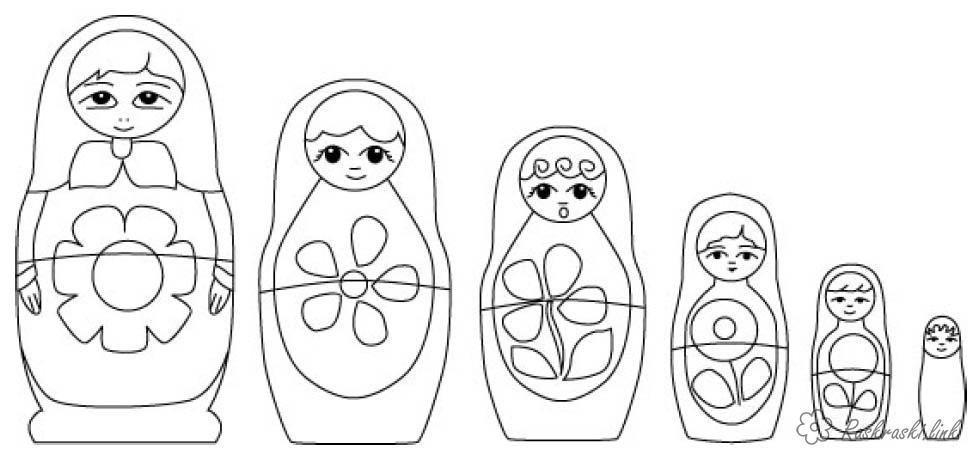 раскраски праздники, День России, 12 июня, матрешка | Раскраски, Матрешка, Бесплатные раскраски