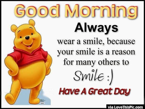 Good Morning Quotes Smile : Quotes of good girls morning always wear a smile
