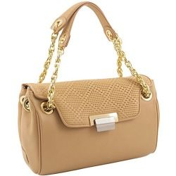 Review Perforate Leather Quarter Flap Satchel By Koret Handbags Online The Ultimate Spring