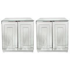MidCentury Skyscraper Style Mirrored NightstandsEnd Tables By - Ello bedroom furniture