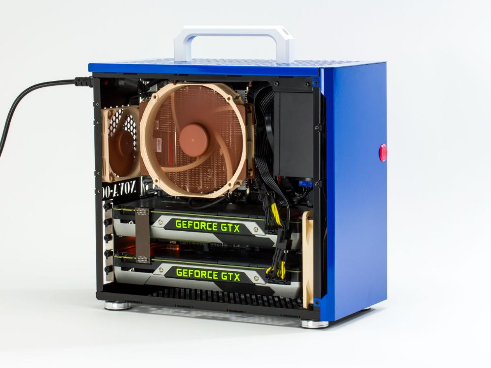 Build Of The Week Nova Custom Designed 17 0l 5 Slot Matx Case Pc Gamer Small Pc Case Custom Pc Diy Computer Case