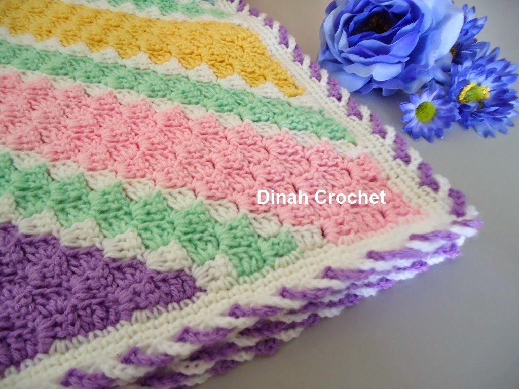 Dinah S Crochet C2c Baby Blanket Baby Afghan