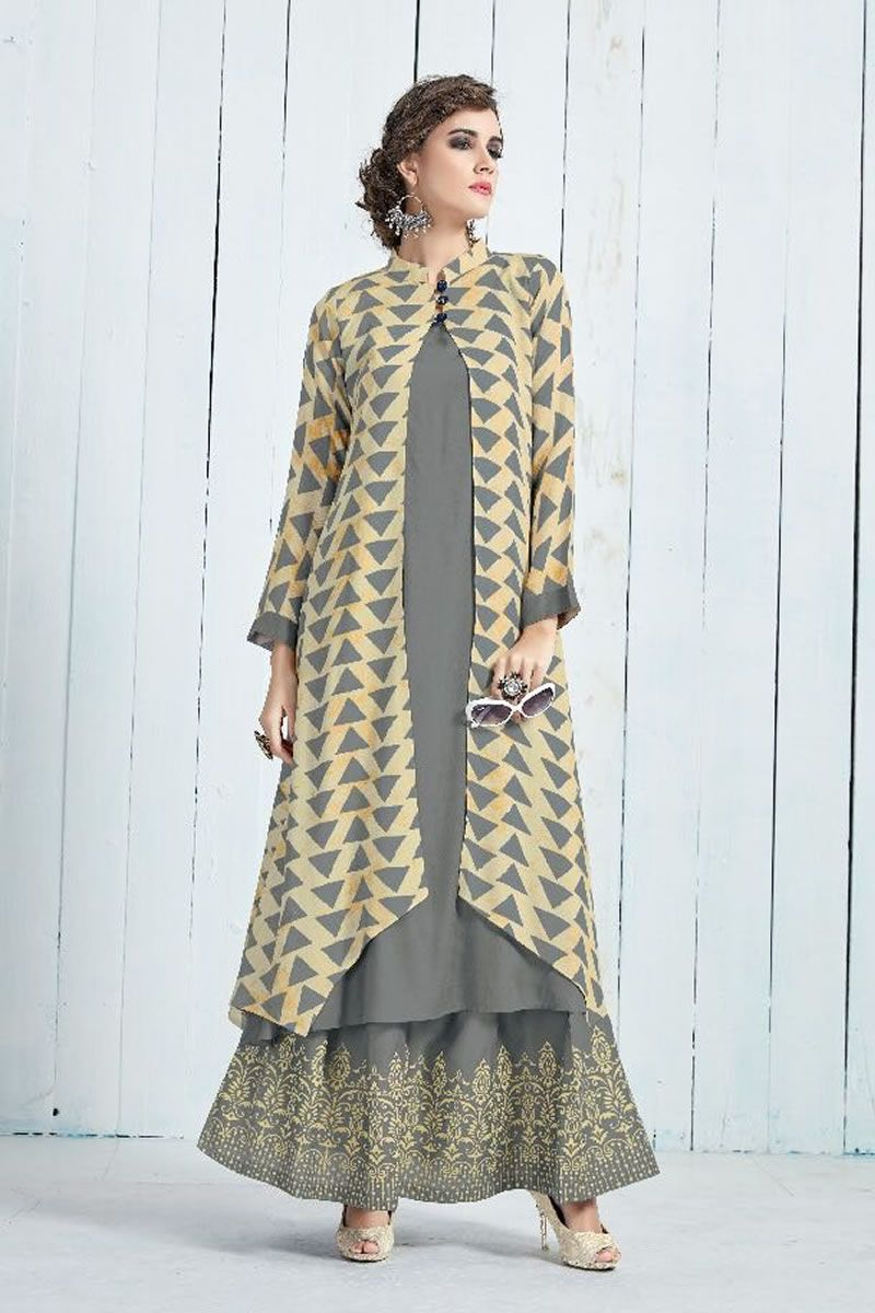 c4ec853608 Grey-Stylish-Koti-Style-Long-Sleeves-Rayon-Kurthi-With-Lehenga-1342-3996  bulk #wholesale #wholesalesupplier #wholesaledealer #bulksupplier #bulk  dealer ...