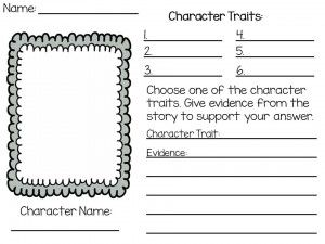 Great Free Character Traits Worksheet That Requires The Students