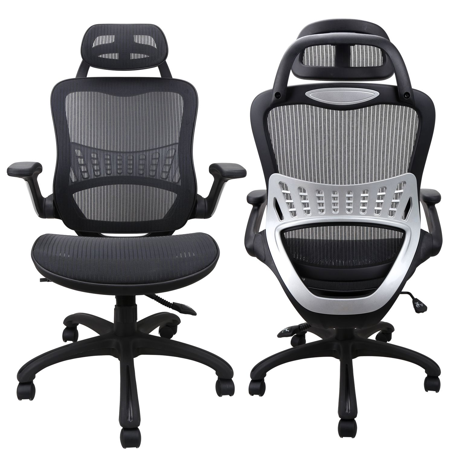 Ergonomic Computer Chair With Back Support Black With Sponge Cushion Get Yours Komene Com Ergonomic Chair Ergonomic Office Chair Ergonomic Office