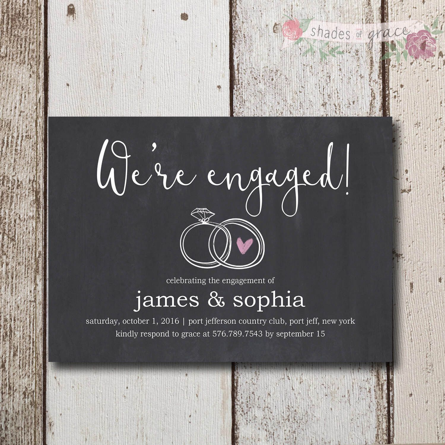wedding photo booth props printable%0A Rustic Engagement Invites Instant Download  Printable Engagement Invite   Chalk Invitations  Rustic Invitations